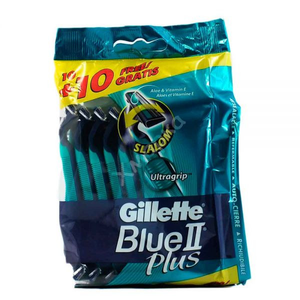 Одноразовые станки Gillette Blue II plus, 20шт