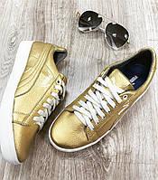 Кожаные кроссовки в золоте Puma