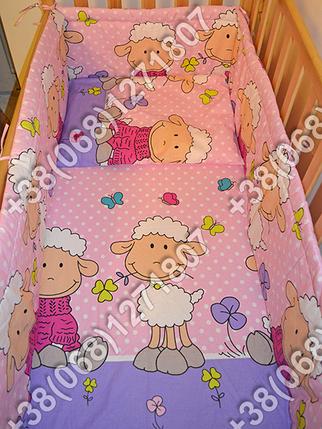 """Детское постельное белье в кроватку """"Бим Бом"""" комплект 5 ед. (баранчик фиолетовый), фото 2"""