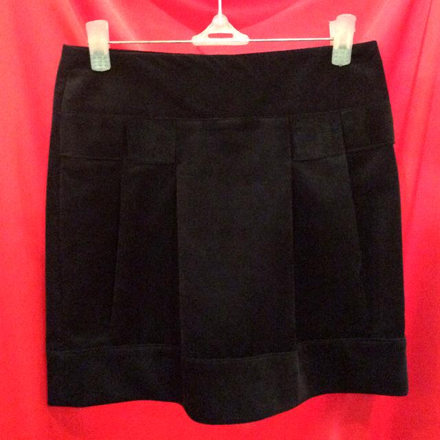 Вельветовая черная мини-юбка Ю58