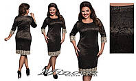 Нарядное женское платье с красивым кружевом  размеры 50-56