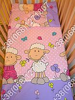 """Детское постельное белье в кроватку """"Бим Бом"""" комплект 7 ед. (баранчик фиолетовый), фото 2"""