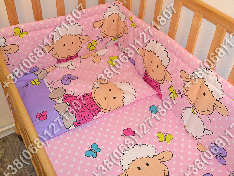 """Детское постельное белье в кроватку """"Бим Бом"""" комплект 7 ед. (баранчик фиолетовый)"""