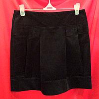 Вельветовая черная мини-Юбка женская Ю58