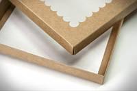 Коробка для пряників 20х17х3см. (з віконцем крафт)