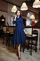 Элегантное платье с рубашечным воротником