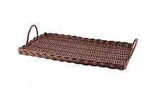 Поднос плетеный, размер 43,5х25,5х3 см, с ручками,  Forest