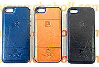 Чехол бампер для iPhone 5 5S SE Pierre Cardin кожаный