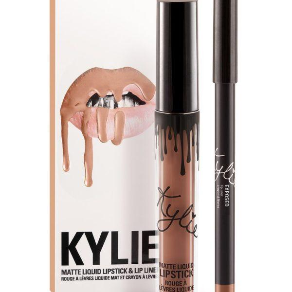 Матовая помада в стиле Kylie с карандашом - Exposed