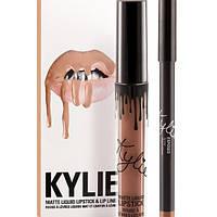 Матовая помада Kylie с карандашом - Exposed