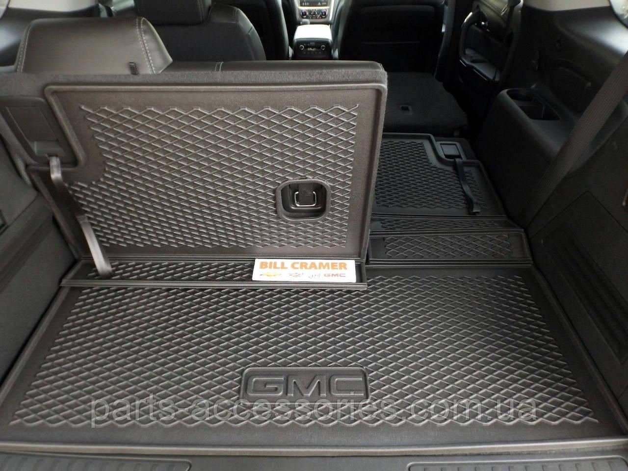 GMC Acadia 2015-17 складной резиновый коврик в багажник Новый Оригинальный