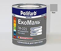 Грунт алкидный POLIFARB ГФ-021 ЭКОМАЛЬ антикоррозионный серый, 2,7кг