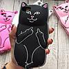 Чехол кот с факами  на iphone 8 силиконовый  , фото 3