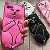 Чехол кот с факами  на iphone 8 силиконовый  , фото 4