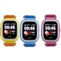 Сенсорные детские умные часы с GPS Smart Baby Watch Q100 ВИБРО Wonlex
