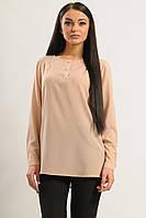 Классическая шифоновая блуза свободного силуэта прямого кроя с длинным рукавом 42-56 размеры
