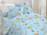 Комплект постельного детского белья бязь - 10-0246 Blue olenenok