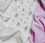 Трикотажное полотно меланж велюровый розового цвета (Польша), фото 2