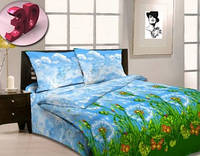 Комплект постельного белья полуторный бязь  - 3959/1 Летний дождь