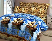 Комплект постельного белья полуторный бязь  - 4277/1 Морское путе