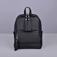Кожаный женский рюкзак Copper с кисточками