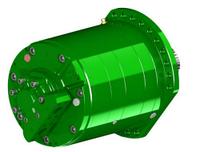 Гидромотор SAI  TS8DF 6000  радиально-поршневой регулируемый  с редуктором