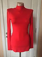 Водолазка женская ярко-красного цвета длинный рукав весна-осень Anna Sorel'