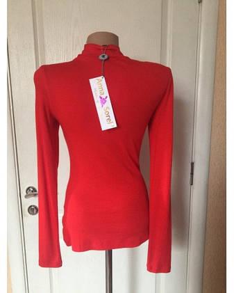 Водолазка женская ярко-красного цвета длинный рукав весна-осень Anna Sorel', фото 2