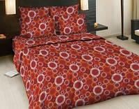 Комплект постельного белья Евро бязь -5220/1 красн. Твист