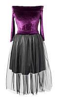 Платье № 1676 сиреневый