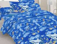 Комплект постельного белья Евро бязь -10-0192 blue