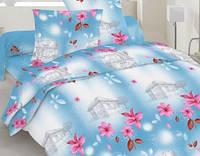 Семейный комплект постельного белья бязь -20-1080 Blue