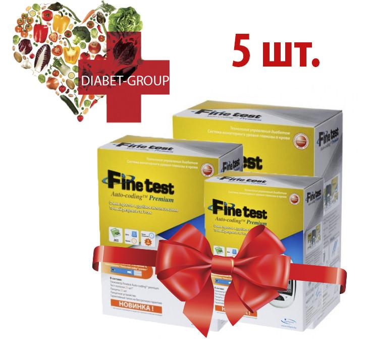 Тест-полоски Finetest premium 50 5 упаковок