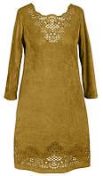 Платье № 3231S горчица