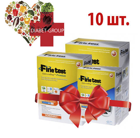 Тест-полоски Finetest premium 50 10 упаковок, фото 2