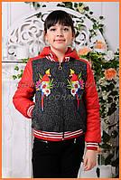 Детская принтованная курточка «Доминика», попугаи