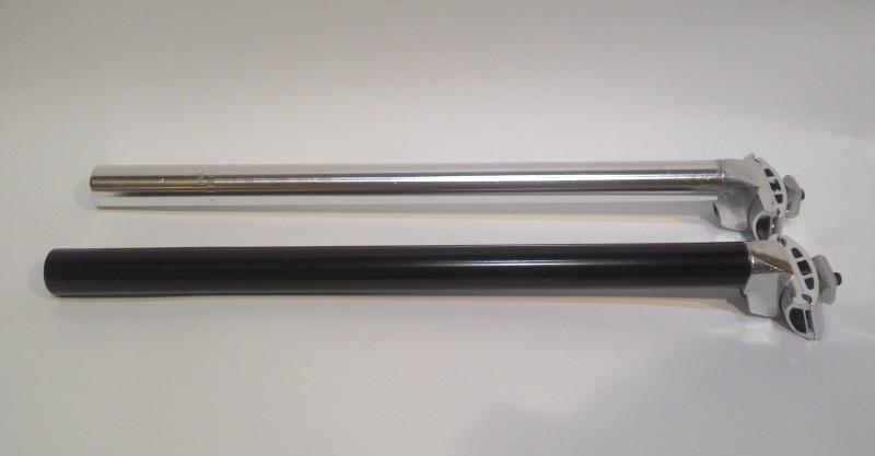 Глагол под седло, подседельный штырь 400мм, Ø27.2, только серебро