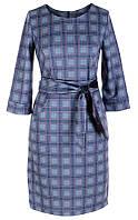 Платье № 164521 сине-сиренево-голубая клетка