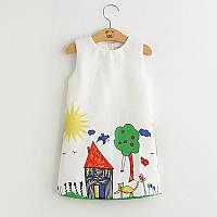 Платьеце детское,платье для детей,дитяча сукня Домик
