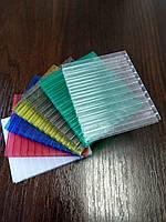 Якісний полікарбонат стільниковий 4мм бронза, зелений, синій, молочний