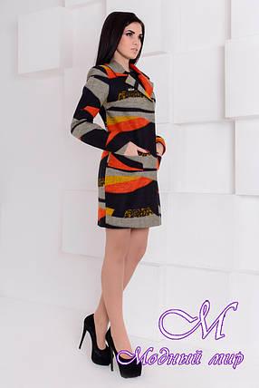 """Демисезонное женское пальто (р. S, M, L) арт. Микадо лайт принт шерсть """"1551"""" - 9220, фото 2"""