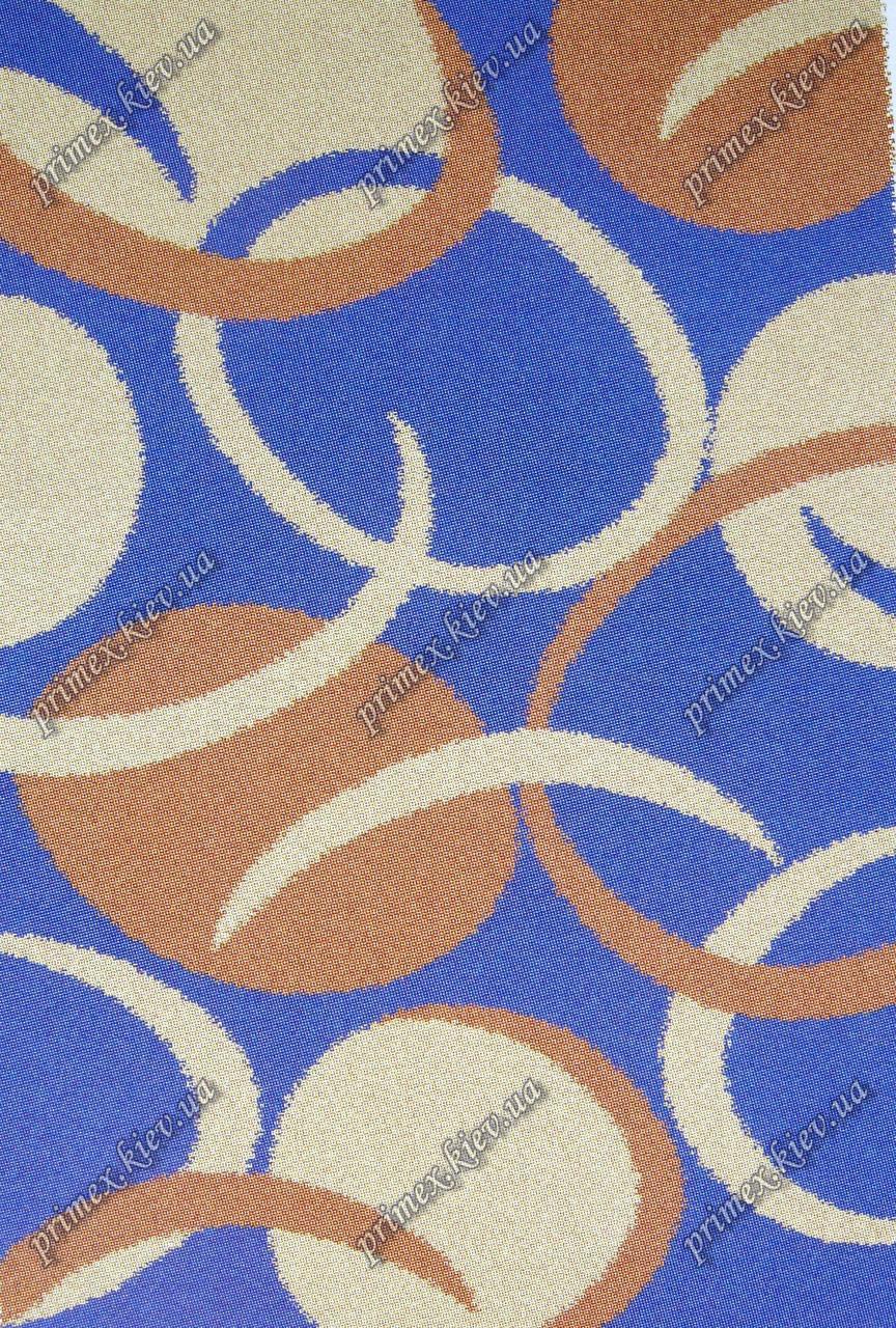 """Высоковрсный килим Шаггі """"Маджонг"""", колір синій"""