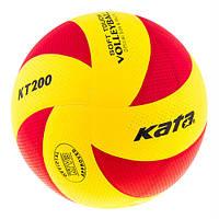 Мяч волейбольный клееный Kata200 PU Red/Yellow