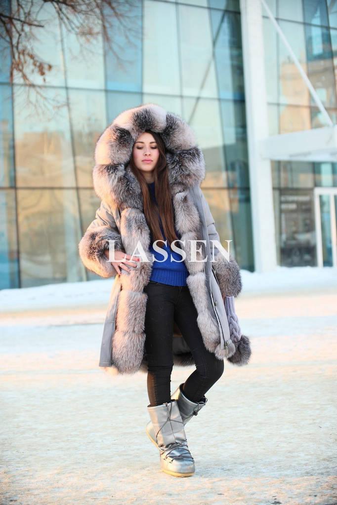 Парка женская с мехом Blue frost L145