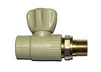Кран радиаторный прямой стальной шар 20х1/2
