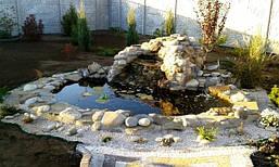 Декоративный пруд на приусадебном участке -1