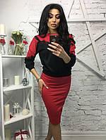 Женский модный костюм с кружевом (3 цвета), фото 1