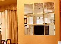 Современные зеркальные наклейки, стикеры, домашний декор, для гостиной, ванной, коридора, спальни, детской