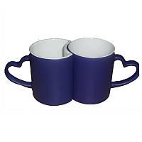 Чашки для сублимации хамелеон Love парные