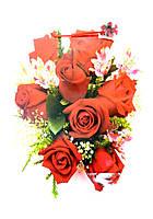 Пакет подарочный ГИГАНТ ВЕРТИКАЛЬНЫЙ 32х42х12см Букет роз